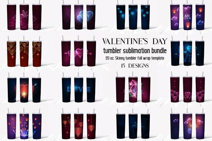 Valentines Day tumbler sublimation bundle.