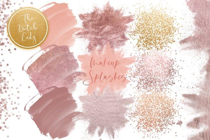 Makeup Smear & Smudge Clipart Set