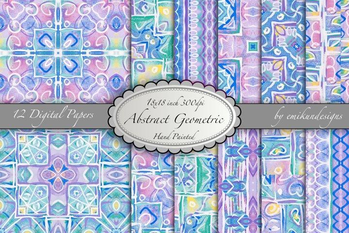 Abstract Geometric Digital Paper Pattern