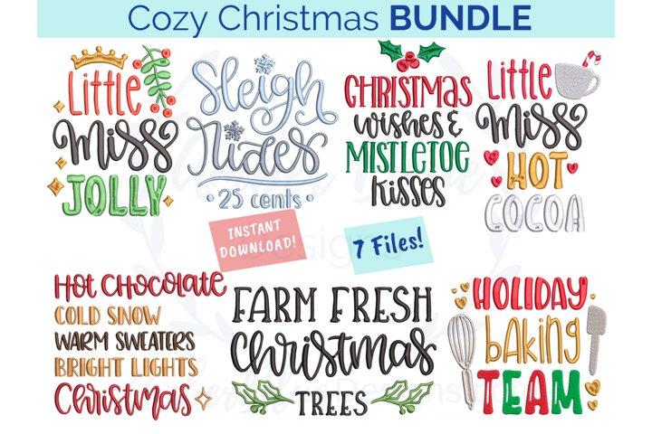 Cozy Christmas Embroidery File Bundle