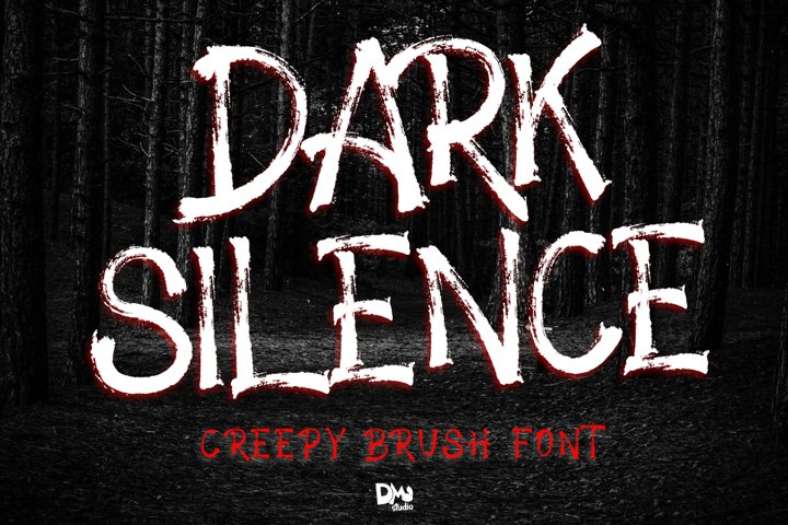 Dark Silence - Creepy Brush Font