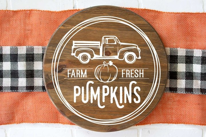 Farm Fresh pumpkins |svg | cutfile |sign design
