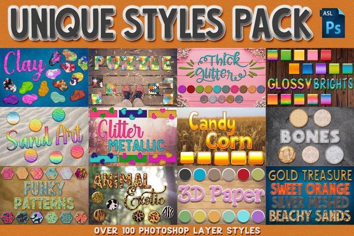 Unique Photoshop Styles Pack