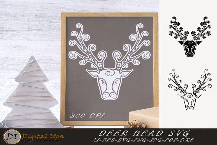 Christmas deer svg. Deer Mandala. Deer Svg