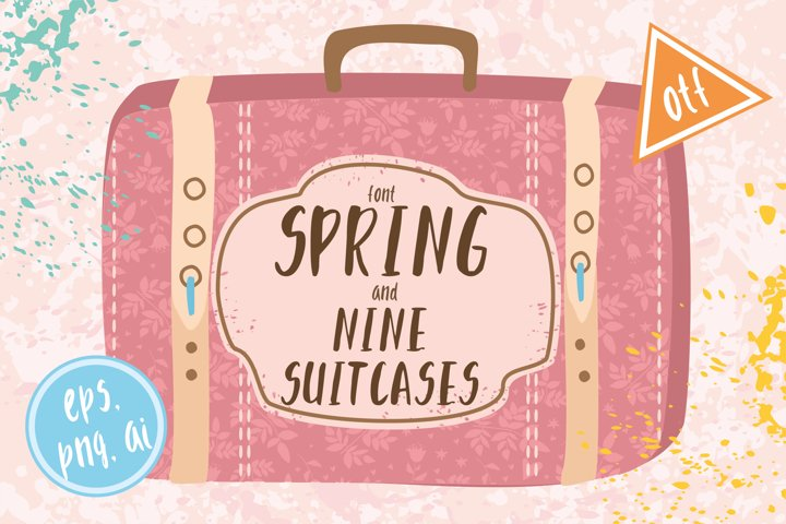 Font spring and suitscases