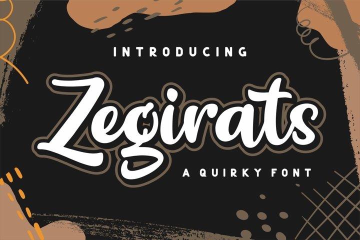 Zegirats - Quirky Font