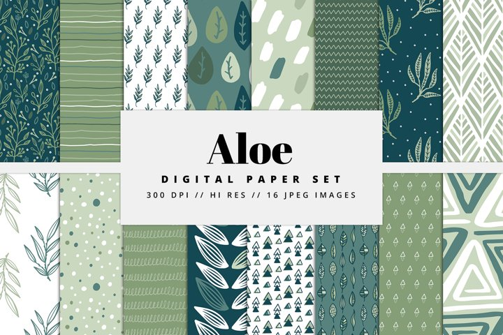 Aloe Digital Paper Set