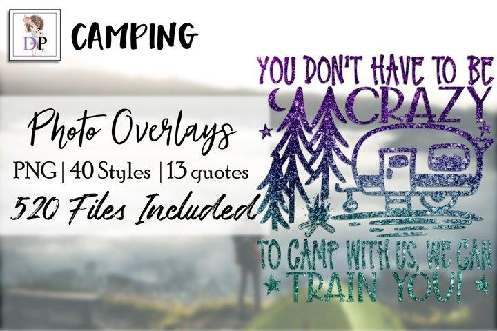 Camping v1 Bundle Photo Overlays Social Media Canva Photo
