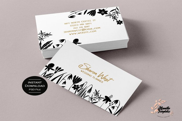 Floral Business Cards, Business Card Template