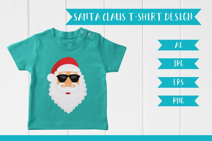 Santa Claus print for T-Shirt EPS JPG AI PNG