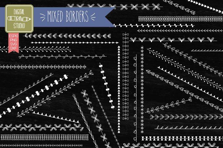 Seamless Borders   Hand Drawn Divider  Illustrator Brushes