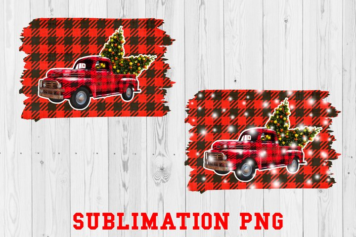 Christmas Truck Sublimation PNG