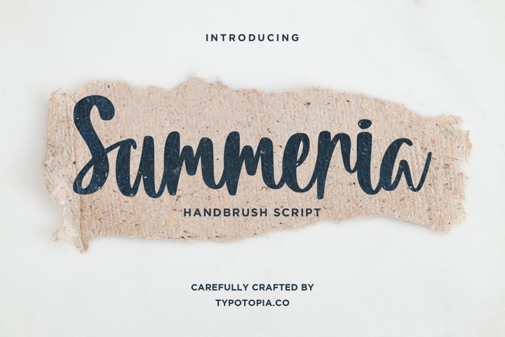 Summeria Handbrush Script Fonts