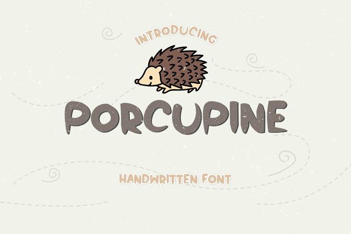 Porcupine - A Cute Spiky Handwritten Font