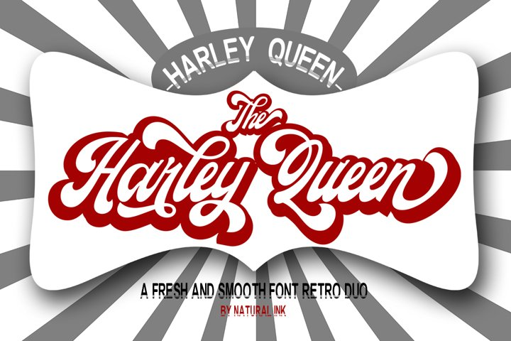 Harley Queen-Retro Font duo and Extrude