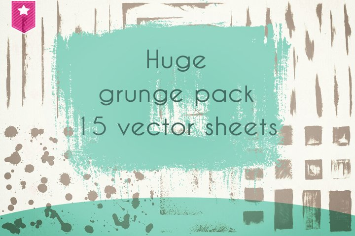 grunge brushes super pack