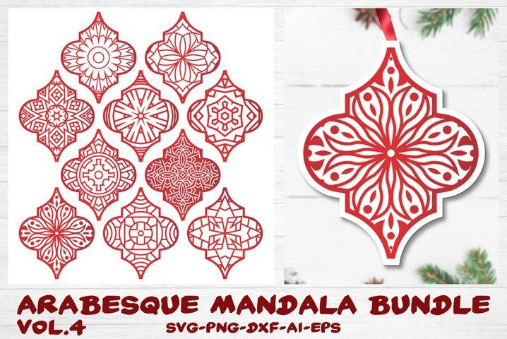 Arabesque Tile Ornament Bundle vol.4 - Christmas Mandala SVG
