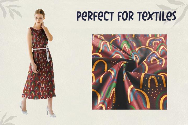 Modern Bohemian patterns. Boho pattern collection example 4
