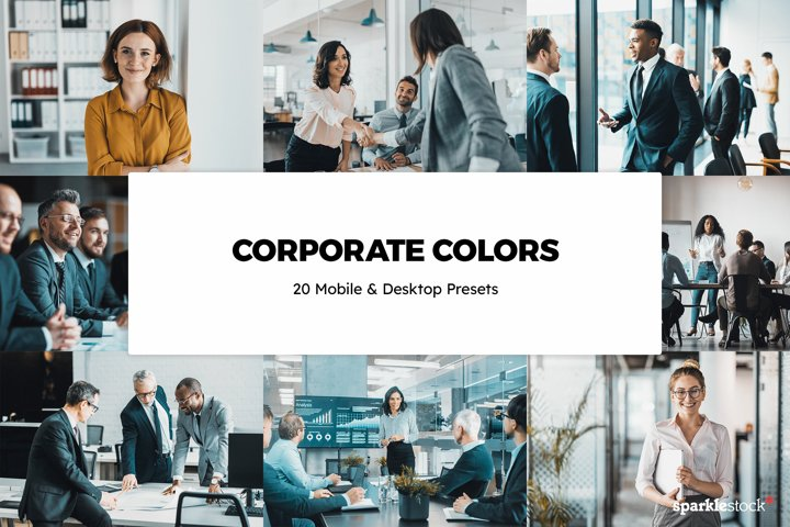 20 Corporate Colors Lightroom Presets & LUTs