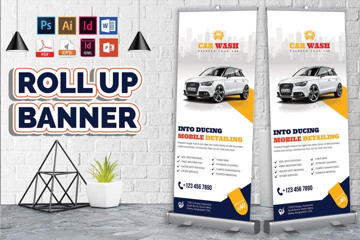 Car Wash Rollup Banner Vol-06