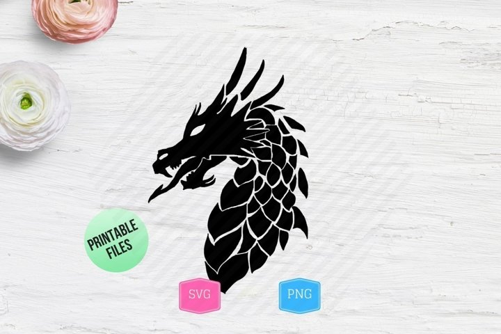 Black Dragon Silhouette SVG
