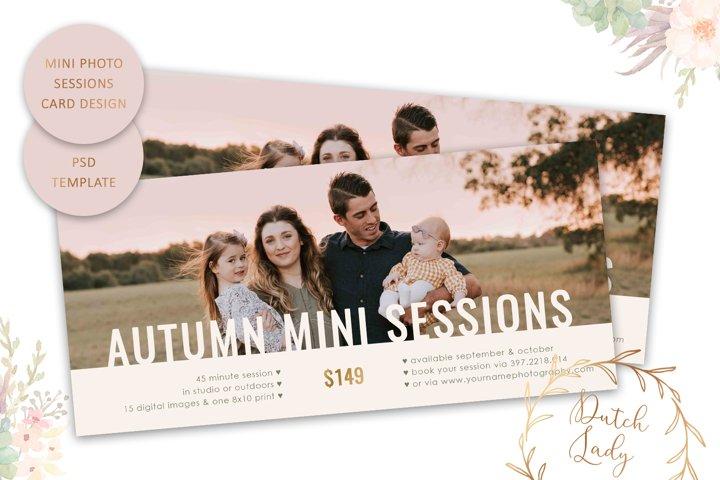 PSD Autumn Photo Session Rack Card Template - Design #68