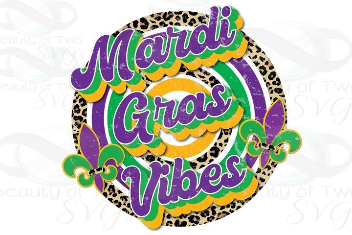 Mardi Gras Vibes Retro png Mardi Gras Retro Sublimation png