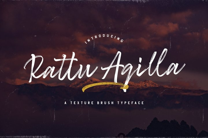Rattu Aqilla - Textured Brush Font