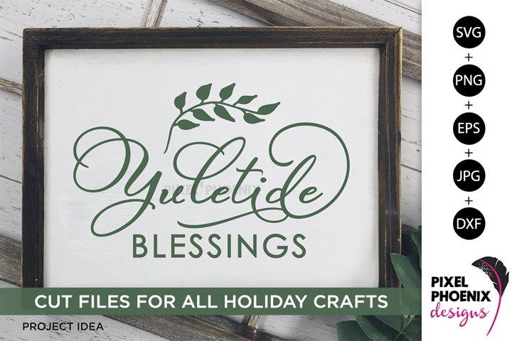 Yuletide Blessings, Yule SVG, Yuletide SVG, Christmas SVG