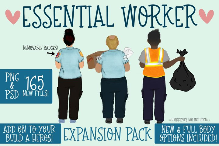 Essential Workers|Build a Hero Expansion Pack