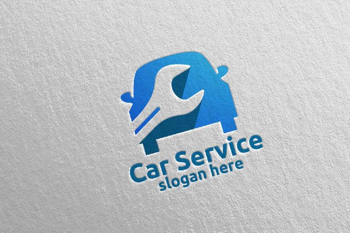 Car Service Logo with Car and repair Concept 3
