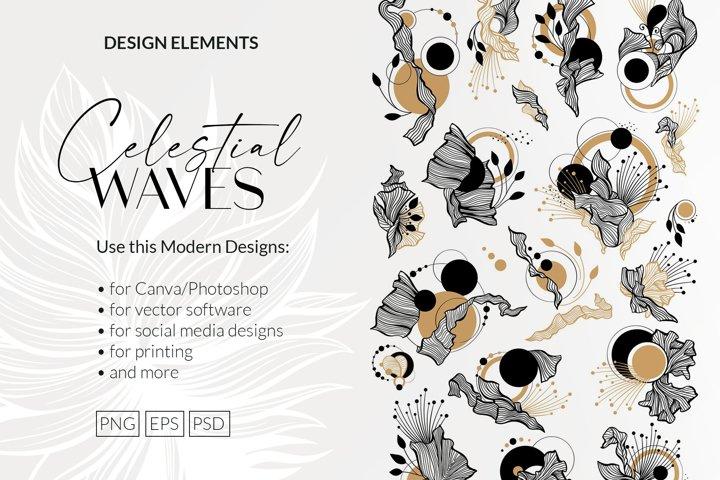 Celestial Waves - Design Elements