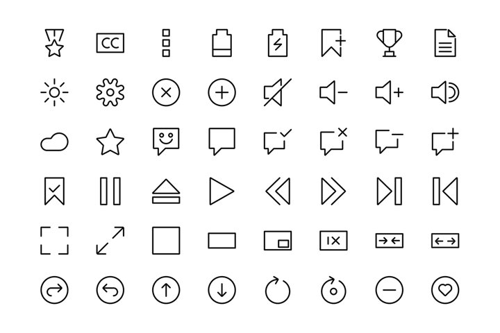 ui icon set