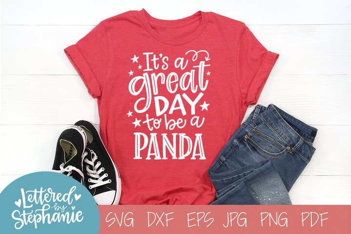 Handlettered SVG DXF, Panda School Mascot