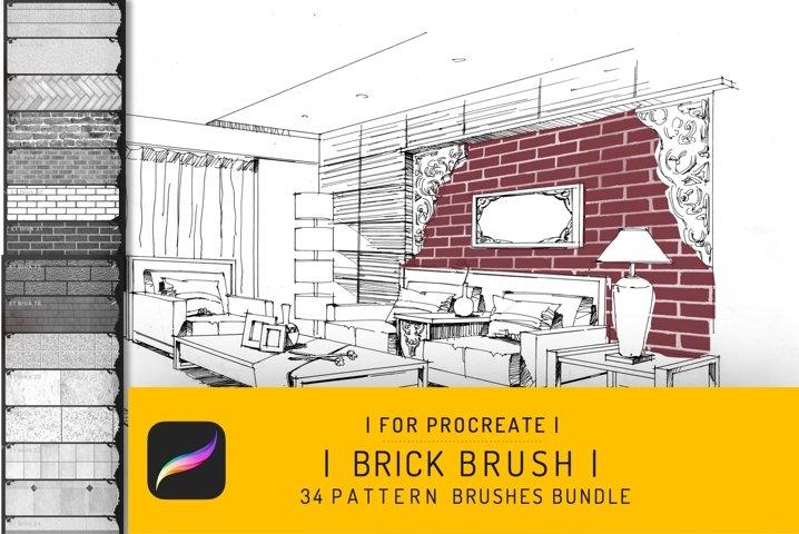 34 Procreate Brick Seamless Texture Brush