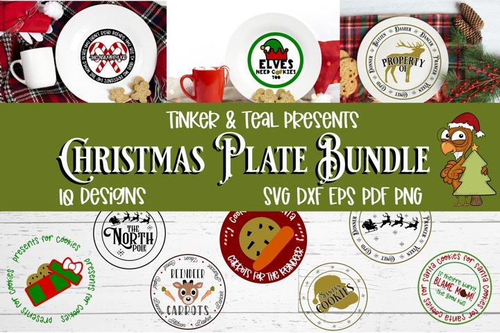 Christmas Plate SVG Bundle