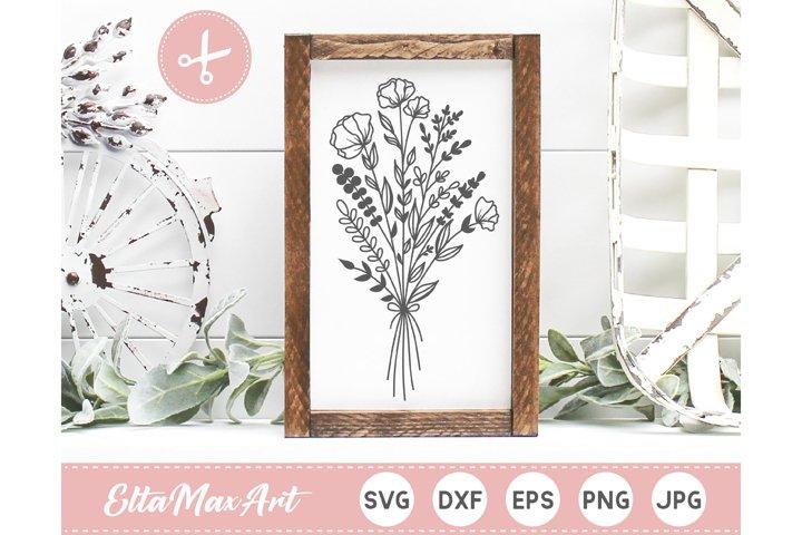 Bouquet SVG file, Flower Svg files, Flower SVG, Flower cut