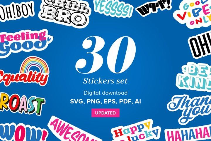 Sticker bundle SVG, PNG, EPS, PDF, AI
