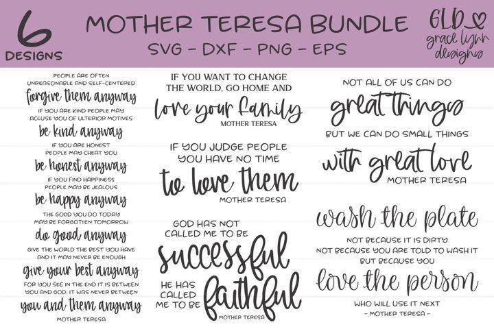 Mother Teresa Bundle - 6 Designs