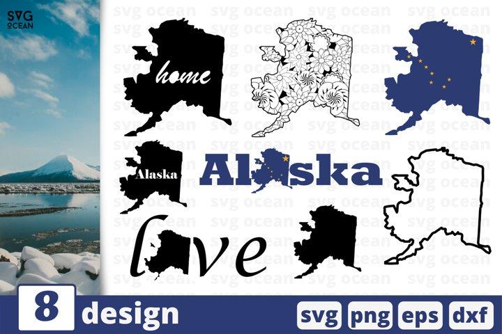 ALASKA STATE SVG BUNDLE | Alaska flag svg | Alaska map