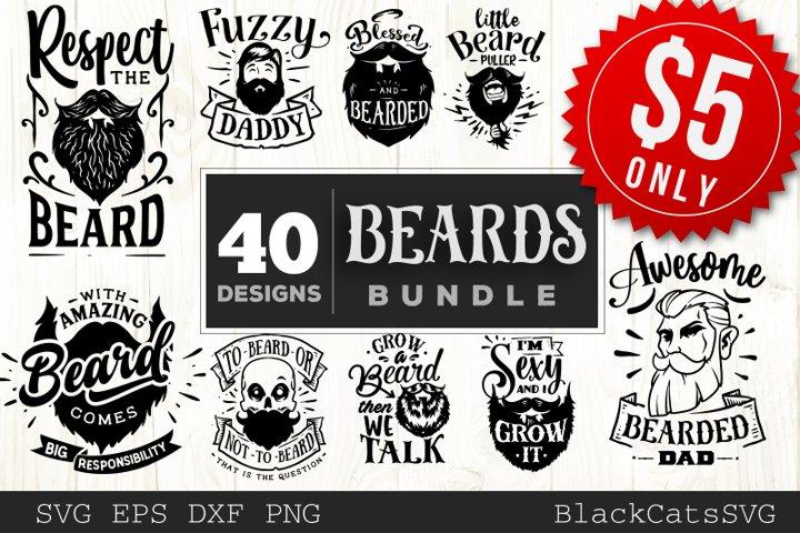 Beards SVG bundle 40 designs