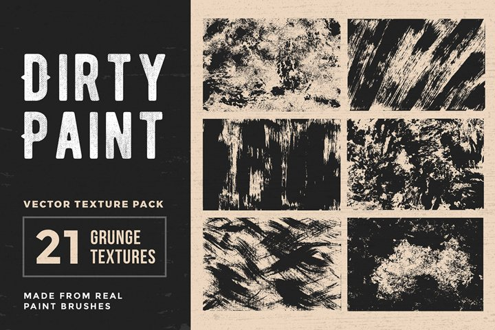 Dirty Paint – Vector Texture Pack