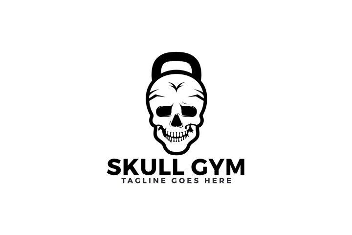 Skull Gym Logo Design.
