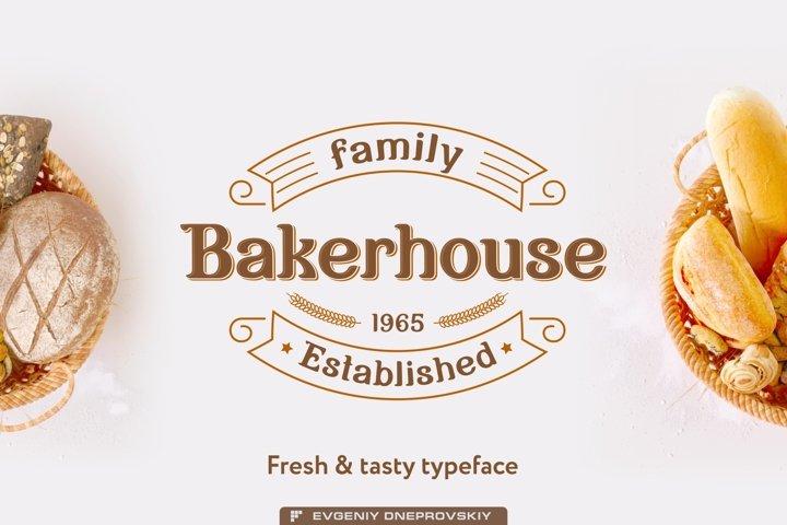 Bakerhouse - vintage font bonus