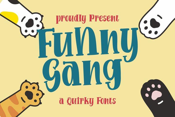 Funny Gang   a Quirky Font