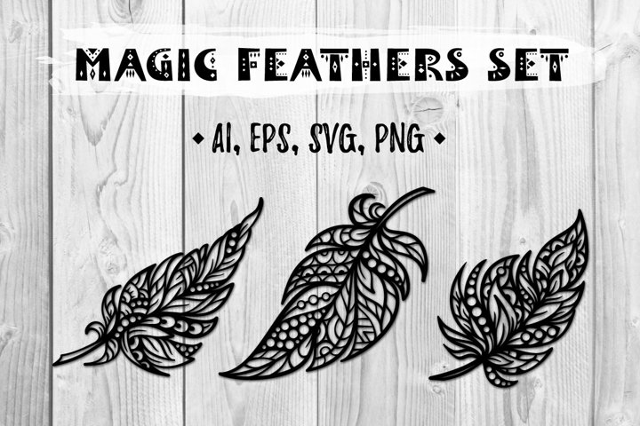 Magic feathers set