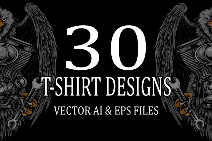 30 T-shirt Designs Vol 2