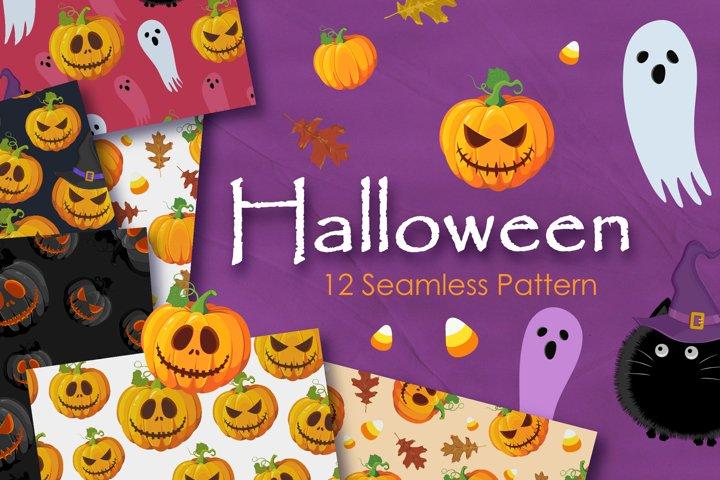 Halloween Pumpkins Jack-o Seamless Pattern
