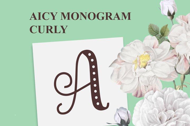 AICY Monogram Curly