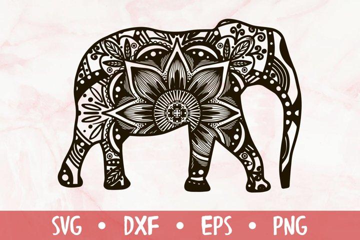 Ornamental elephant - SVG CUT FILE